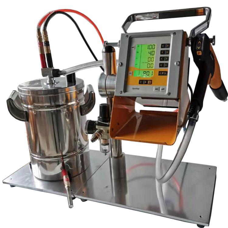 Hot sale Laboratory electrostatic metal powder spray cup gun and controller
