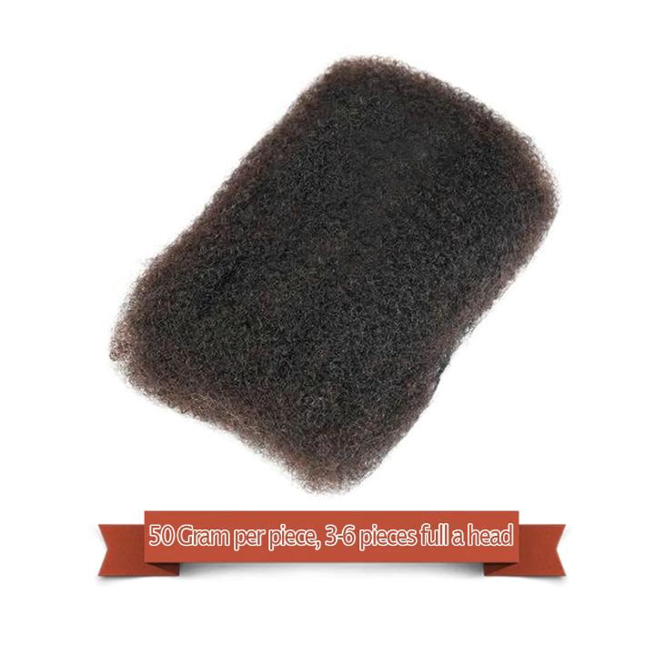Parrucca di capelli umani di Remy No Attachment Mongolo Afro riccio crespo dei capelli Per 1Pc Intrecciamento Crochet Del Trecce brasiliana dei capelli del Commercio All'ingrosso prezzo