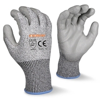 CE EN388 4544 level 5 cheap 13G HPPE cut proof safety kitchen cry anti cut resistant gloves