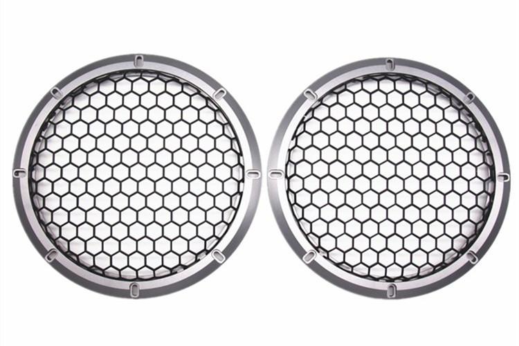 "2 Pcs 2/"" inch Black Audio Speaker Cover Decorative Circle Metal Mesh Grille TW"
