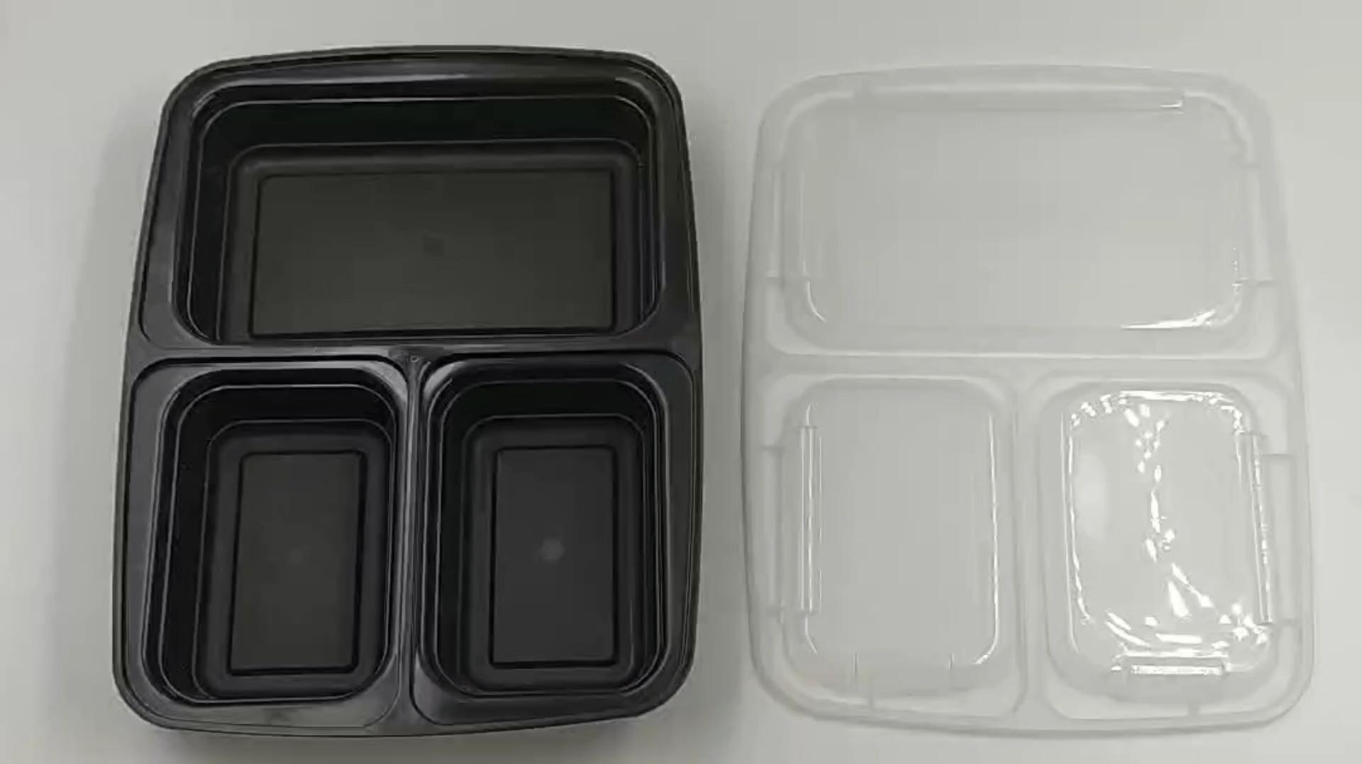 Не содержит Бисфенол А 3 отсек крышки пищевых контейнеров Органайзер одноразовые от боли в спине, пищевой контейнер с крышкой для пищевых продуктов