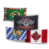 professional large screen printed custom flags