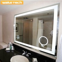 Walue Bathroom Led Lighted Mirror With Heated Mirror Anti-fog Pad