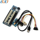 Mini PCI-E PCIe to 2 PCI Slot Expansion Riser Card Adapter with USB Data cable