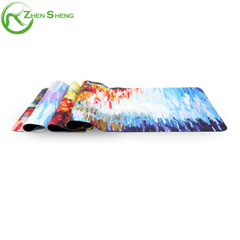 Zhensheng natural rubber yoga mat logo custom print