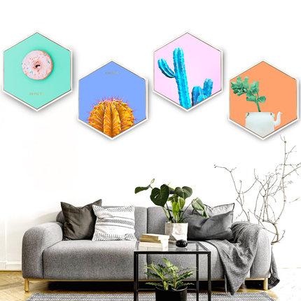 Sala de planta verde fruta decoración pintura simple hexagonal nórdicos mural estilo chino Fondo pintura