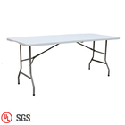 High Quality 6FT Solid White Plastic Outdoor Folding Dining Table
