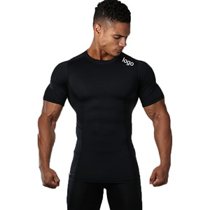 Customise Logo Mens GYM Wear Compression Shirt Clothing