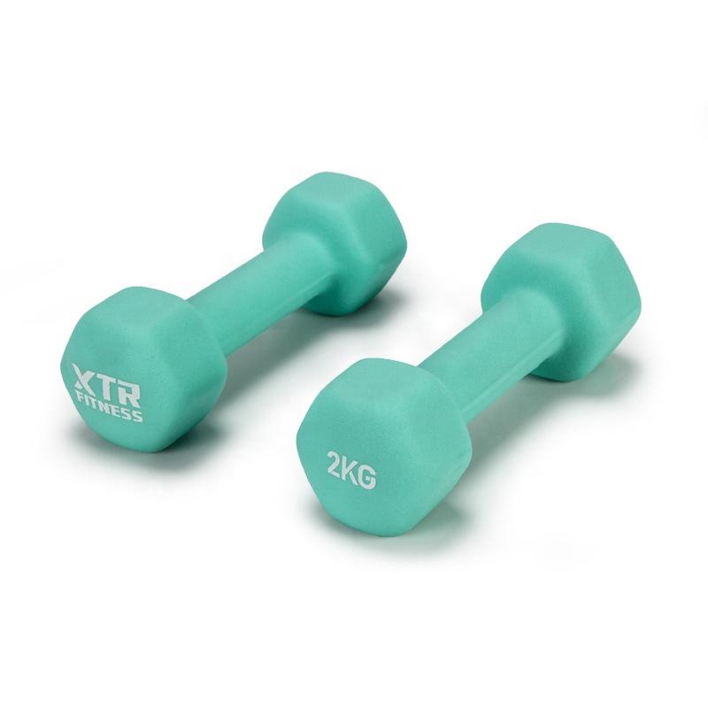 Équipement de gymnastique de Forme D'os PVC Enduit D'haltères poids acheter haltères bon marché