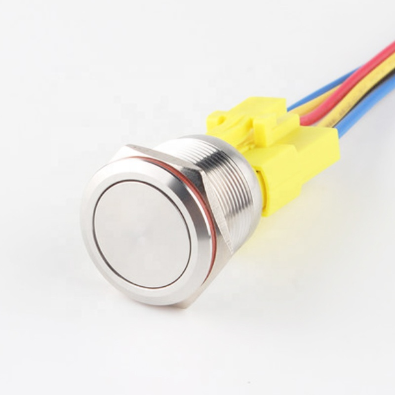 Chinakel momentary golding pins plug 220 volt push button switch 22mm push button switch with led lamp 4 pins