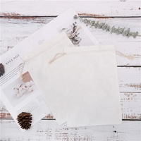 wholesale drawstring cotton muslin bags with printed logo