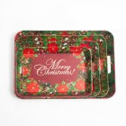 Large cheap daily promotion gift Christmas plastic serving tray