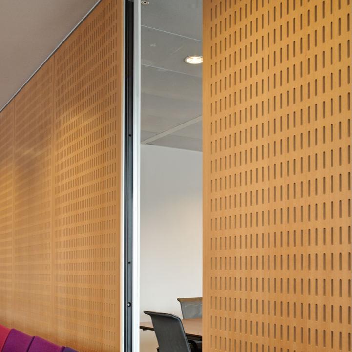 Interior de absorción de sonido de madera perforado Panel acústico a prueba de sonido acústico para pared