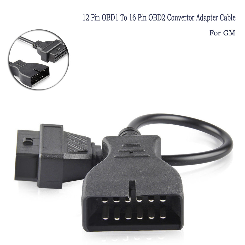 12Pin OBD1 to 16 Pin OBD2 Convertor Connector Adapter Cable For GM Chevrolet GMC
