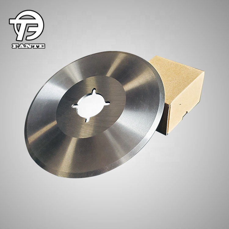 Tungsten carbide top dished circular paper cutting knife for slitting machine