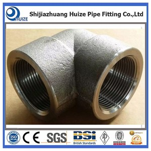 Forged CL3000 Carbon Steel CS A105 90 Degree Socket Weld Pipe Elbow