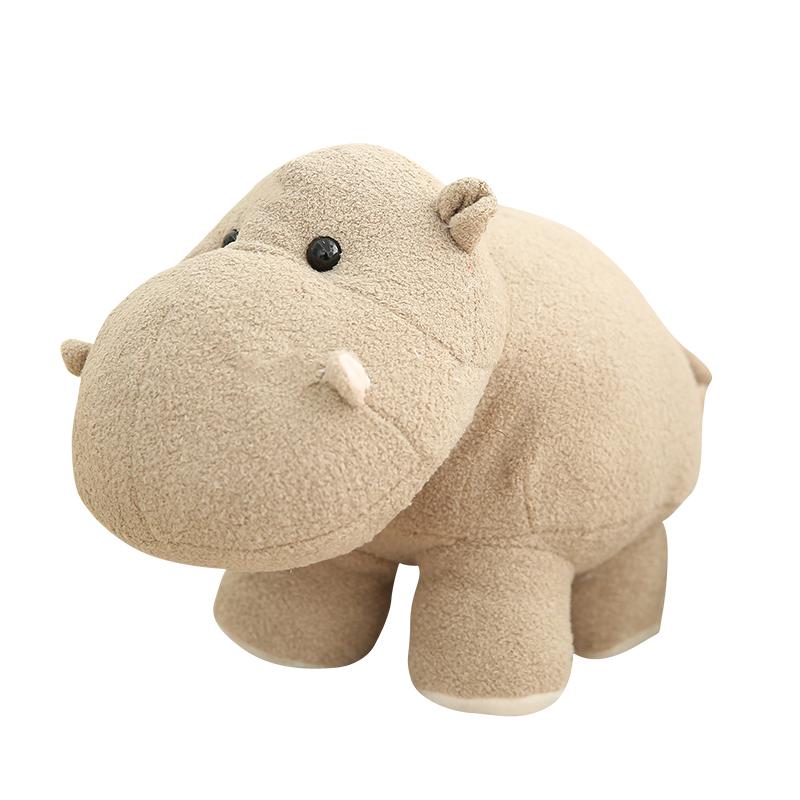 Big Head Sitting  Custom Kids Forest hippo Animals Toys Small Grey  Customised Stuffed  Soft Elephant Doll Wholesale Plush Toy