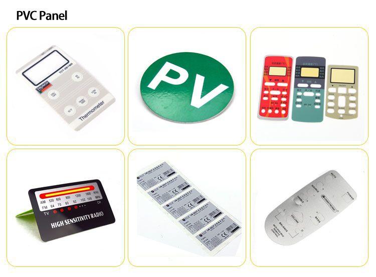 20 años de fábrica libre de la muestra de encargo de PVC adhesivo etiqueta engomada de la etiqueta