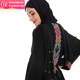 1742# Top quality fancy black embroidery women open dubai abaya wholesale