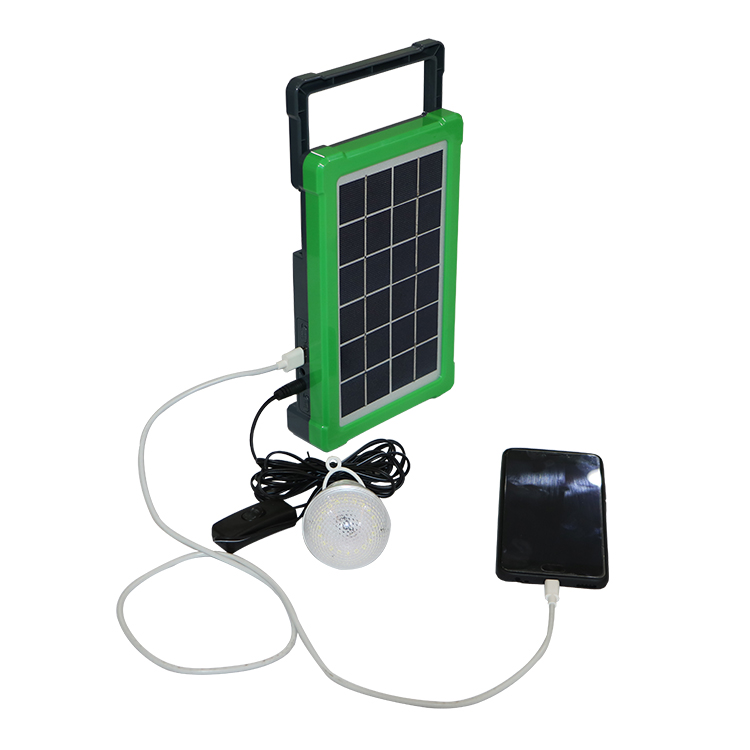 3W Portable Generator Light System Complete DC Solar Energy Panel Kit For Home