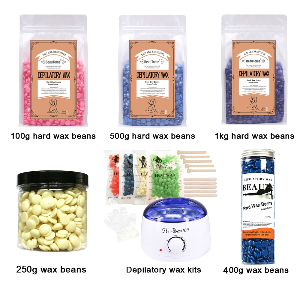 2019 new natural hair removal depilatory wax beans for woman