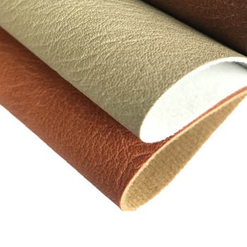 Oil Wax Leather Embossed Synthetic Artificial Cotton Velvet Backing PU Leather Fabric