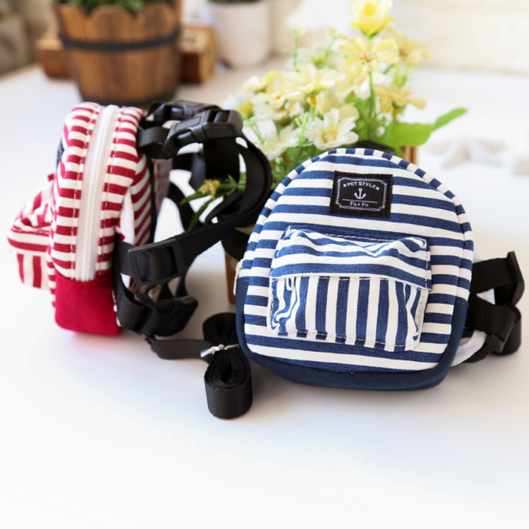 Cute Pet Puppy <strong>Dog</strong> Harness <strong>Bag</strong> Lead Set Saddle Backpack <strong>Dog</strong> Travel Food <strong>Carrier</strong>