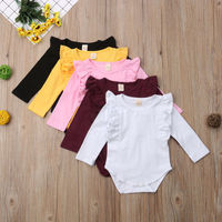 autumn infant long sleeve clothing girls' newborn baby romper jumpsuit
