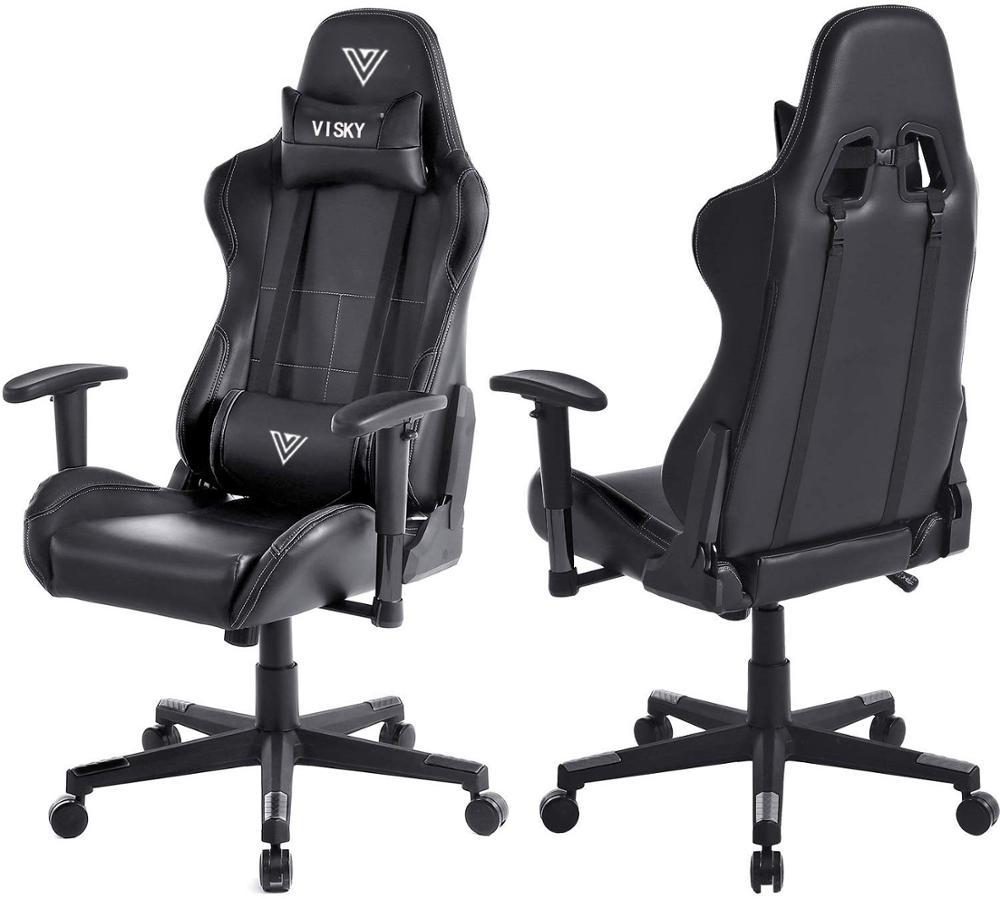 VISKY Wholesale oem Dota2 180 degree Reclining computer office Racing seat swivel massage Gaming Chair
