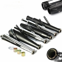 JPMotor New Universal Stainless Steel Motorcycle Exhaust System 31mm-61mm Vintage Exhaust Muffler Pipe