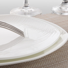 P&T Royal Ware Bone China Dinnerware Five Star Hotel Tableware Supplier Square Dinner Plates For Catering Event