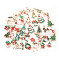 10Pcs Xmas Alloy Pendant Charms For Bracelet Earrings Jewelry Making Xmas Tree Decoration Kids Gift