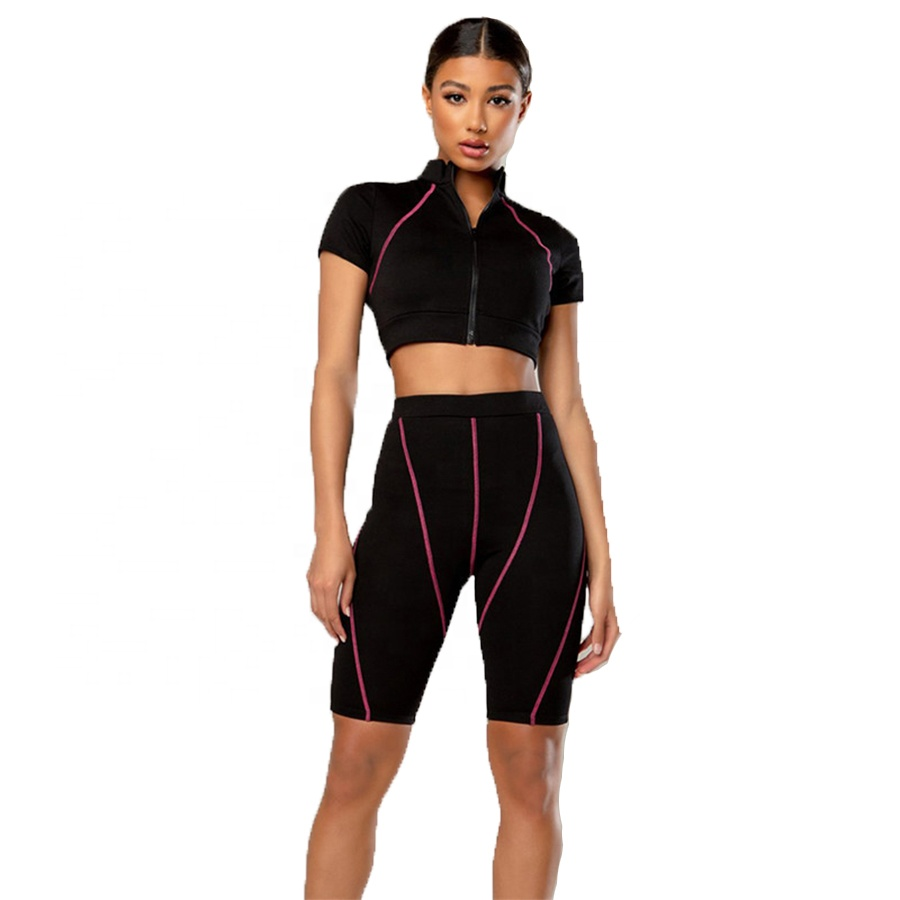 2019 benutzerdefinierte Trainingsanzüge Yoga Set Gym Jogging Anzüge Womans Sport Bh Und Shorts Set