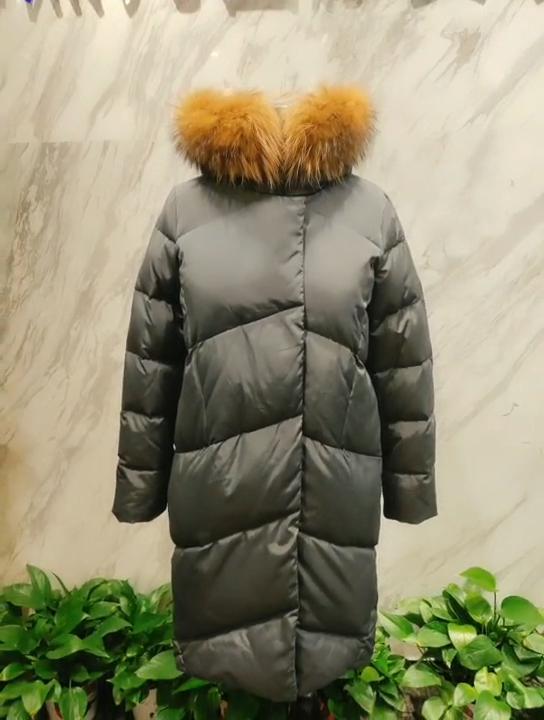 Women Winter Coat Long Winter Down Coat Office Style Outwear Ladies Coat