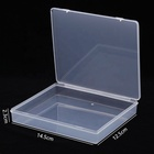 Individual Lids Transparent Thick Plastic Box for Card Organizer