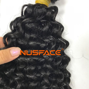 raw virgin hair indian hair deep wave Brazilian hair kinky curly nusface