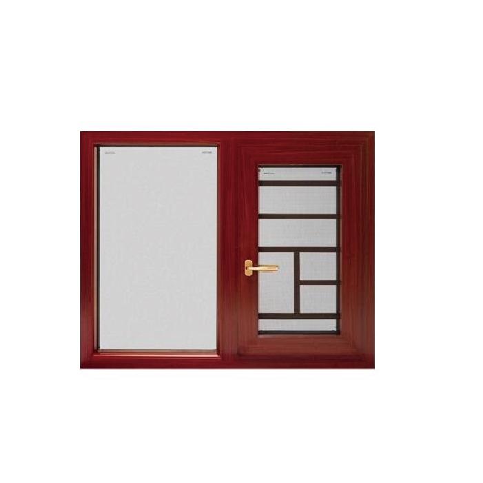 Topwindow High Quality Wooden Color German Brand Hardware Thermal Break Aluminum Casement Window Door Double Glazed Windows