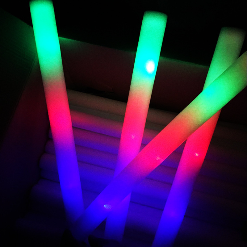 Hot Sale Chinese Factory Supplies Light Up Cheering Stick Light Custom Logo LED Foam Glow Stick For Festive & Party