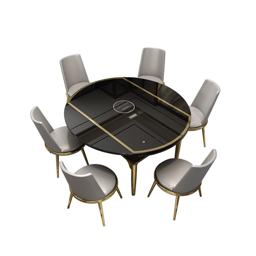 Venta al por mayor mesas comedor redondas extensibles-Compre ...
