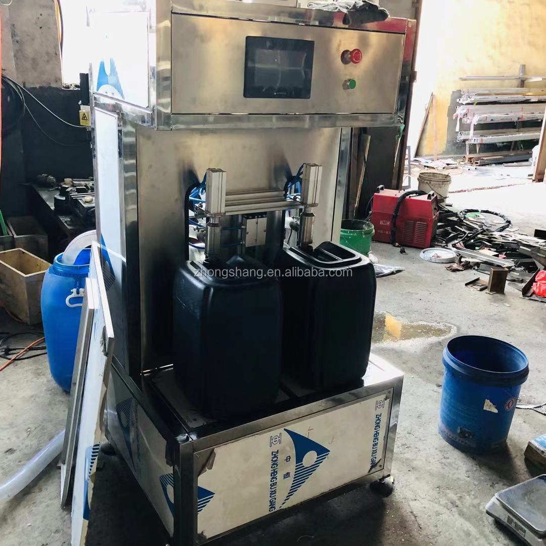 CE certification two nozzles liquid weighing and filling machine for mineral water