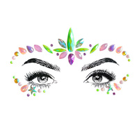 New face jewelry sticker body sticker Tattoo Crystal glitter face Stickers Gems
