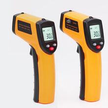 Лазерный ЖК цифровой ИК инфракрасный термометр измеритель температуры пистолет бесконтактный термометр(Китай)