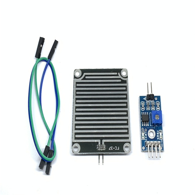 Teyleten Robot SongHe 3pcs LM393 Rain Drops Sensor Weather Moisture Monitor Sensor Humidity Sensitivity Module Nickeled Plate 3.3-5V for Arduino