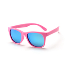 Kids Ultra-light silicone sun glasses custom logo children kids products mirror sunglasses