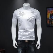 Новая модель летней одежды, Мужская футболка с блестящим принтом, футболка для мужчин, облегающая, короткий рукав, Social Club, наряды, дизайнерск...(Китай)