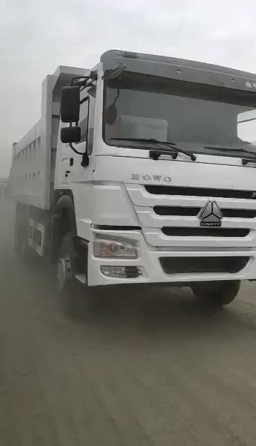 2016 année Utilisé Sinotruk Howo Camion À Benne Basculante, Seconed Tête 336HP Jaune Camion À Benne Basculante De Haute Qualité