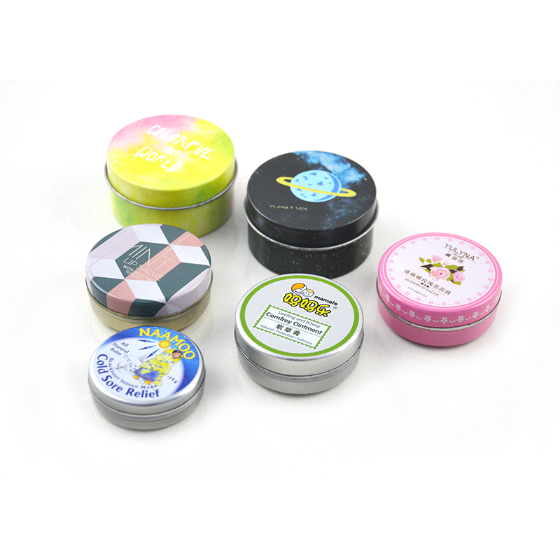 Custom printed tin box metal beauty packaging tinplate containers for cosmetics