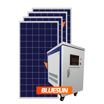Bluesun 200KW High Power Off Grid Solar Power system for factory Big solar power system pv modules system for project