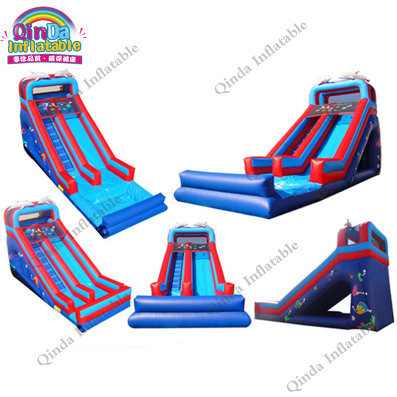 2017 Guangzhou playground bouncer inflatable yard turkey water slide 2 lanes inflatable slip n slide for sale