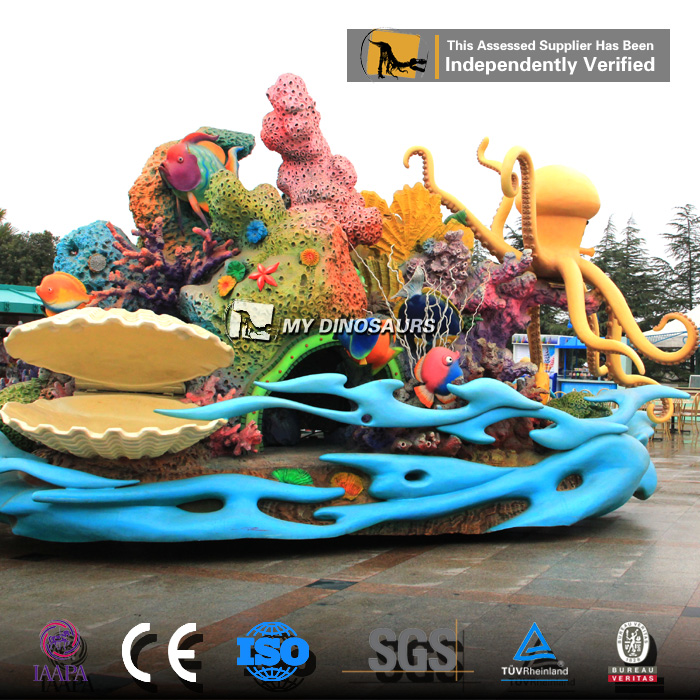 MyDino 3D Fiberglass Cartoon Figure Statue For Theme Park